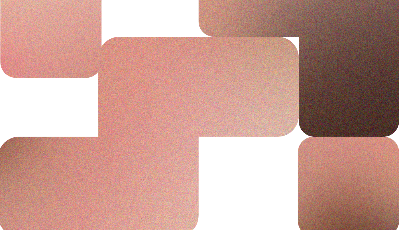 Abstract Tetris-like shapes with brown-pink gradient moving towards each other.