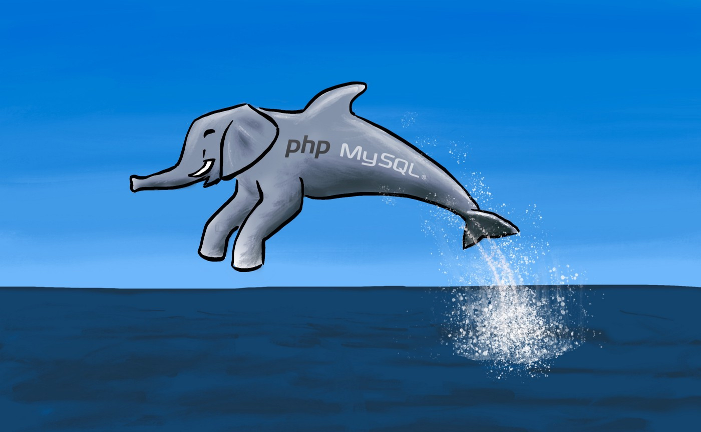 The unholy mix of an elephant and a dolphin leaps out the water