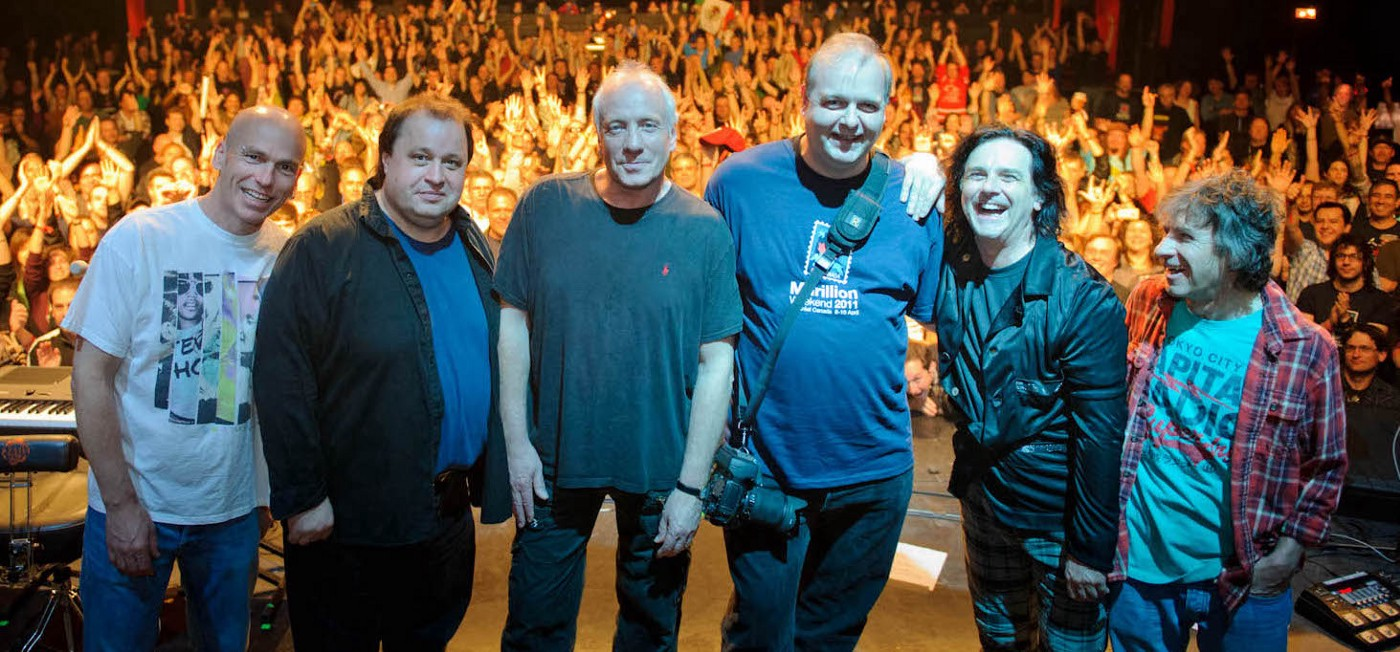 Onstage with Marillion after everyone sung Happy Birthday to me!