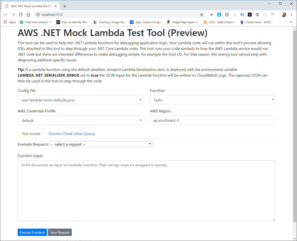 How to Debug  NET Core Lambda Functions Locally with the Serverless