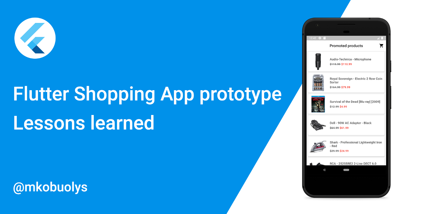 Flutter Shopping App prototype: Lessons learned
