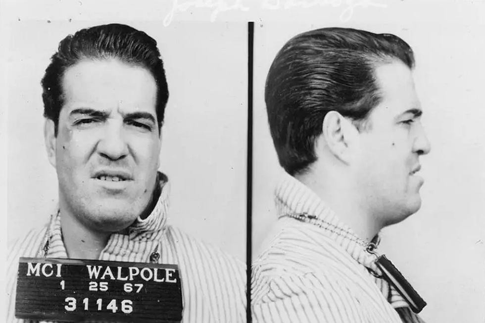 Mugshot of Joseph Barboza born in New Bedford, Massachusetts, in 1932 to a family of second-generation Portuguese immigrants. The photo is dated January 25, 1967. Joe was an American gangster and hitman for the Patriarca family of the Boston Mafia known as La Cosa Nostra.