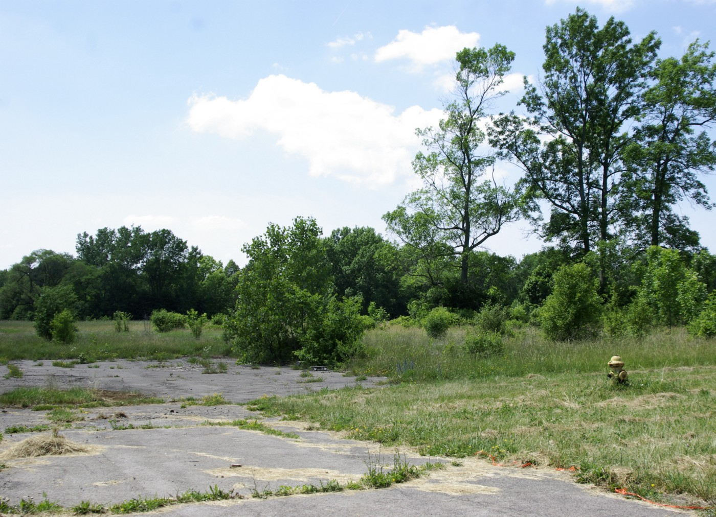 An abandoned parking lot in the vicinity of Love Canal