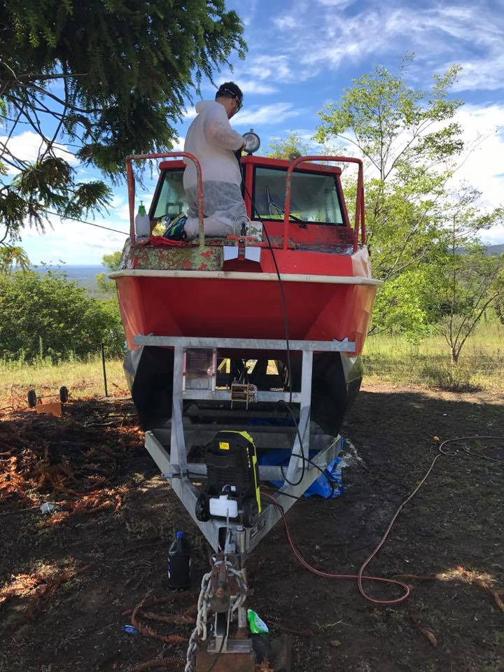 Day 1 – Removing lichen and mould - Boat Restoration Adventures - Medium