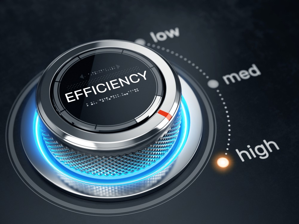 An image representing a control for efficiency