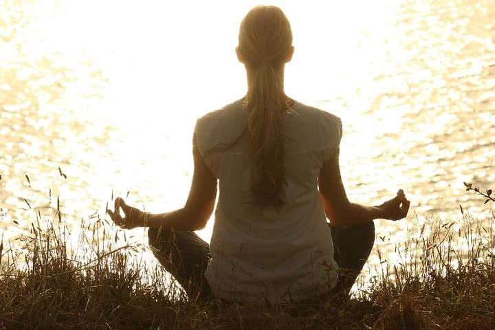 Healthy lifestyle, meditation Healthy people