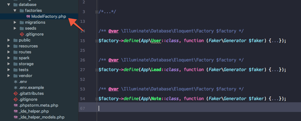 Model factory and custom validation artisan commands in Laravel 5 5
