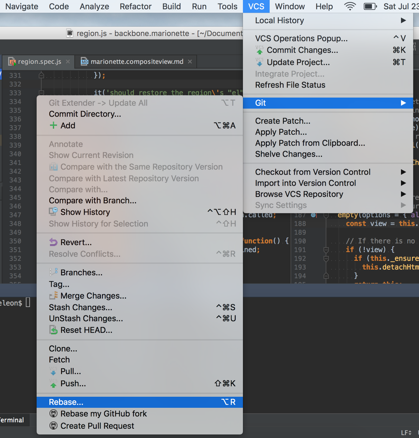 Tutorial: Organize your commits through git rebasing and Jetbrains IDEs