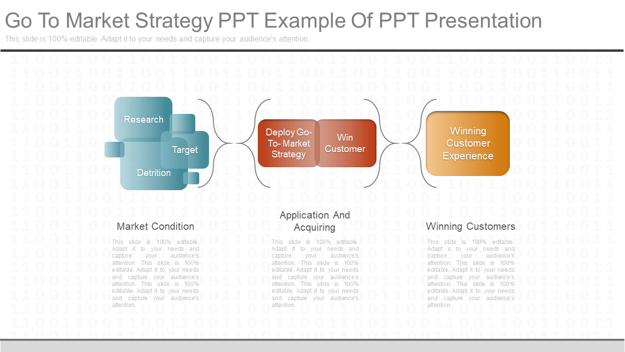 Go to Market Strategy PowerPoint Template Diagram