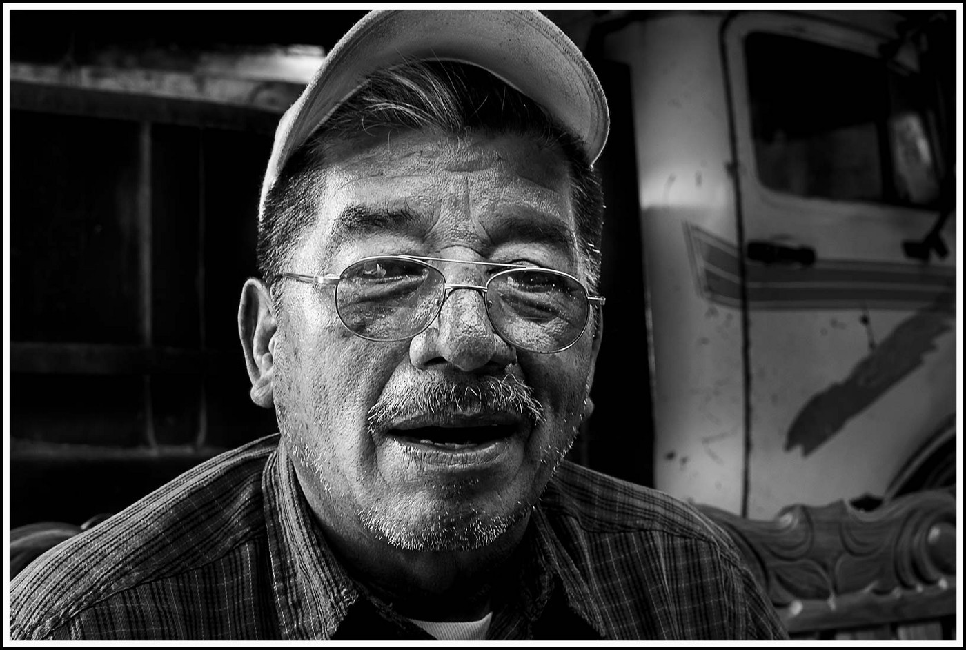 Portrait of Domingo Gonzales, survivor of the Guatemalan Civil War