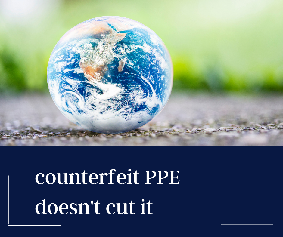 globe image counterfeit ppe doesn't cut it