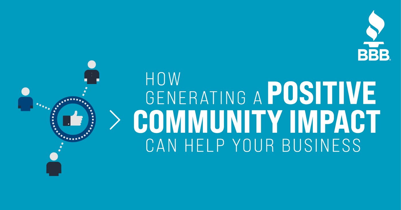 How Generating a Positive Community Impact Can Help Your Business Title Image with a community business icon