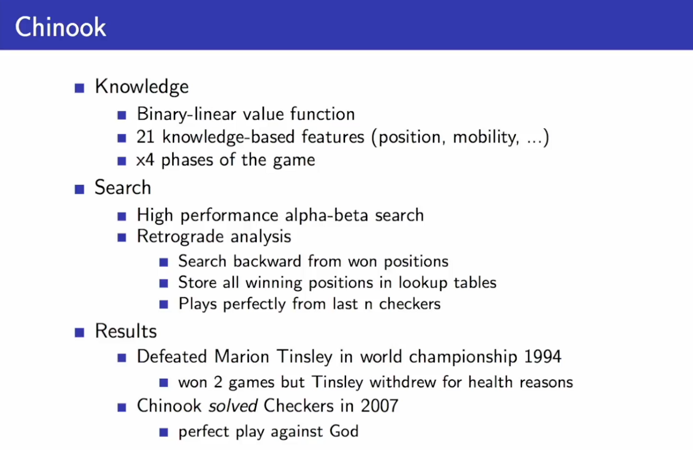 "Notes for ""Classic Games Case Study"" by David Silver"