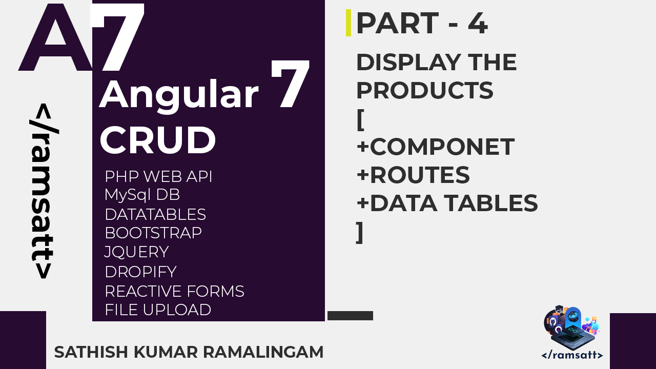 Angular 7 CRUD — Part 4 — Display the Products - ramsatt - Medium