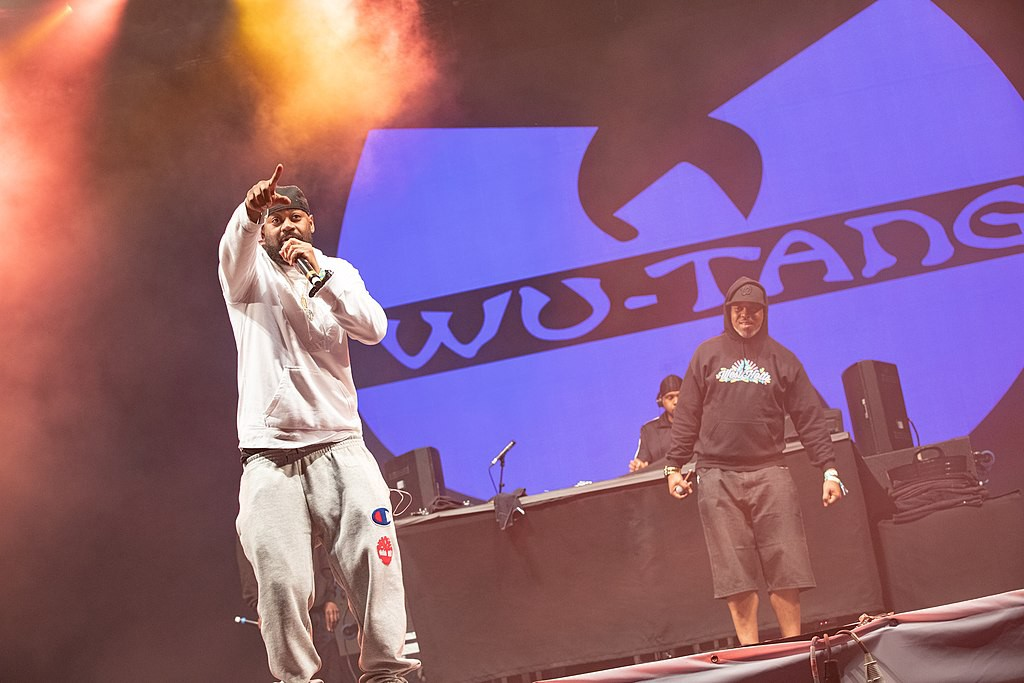 Ghostface Killah from Wu-Tang clan performs on stage