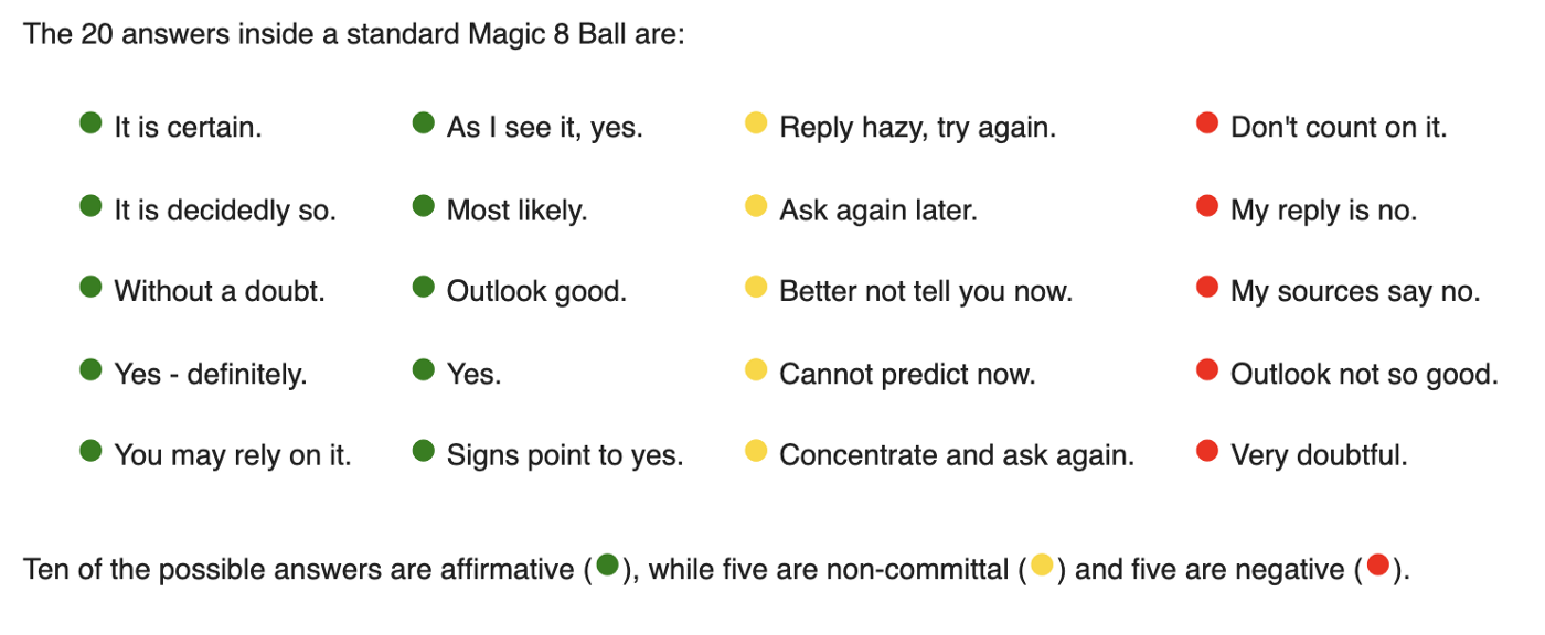 Creating a Magic 8 Ball in HTML5 with JavaScript - The Startup - Medium
