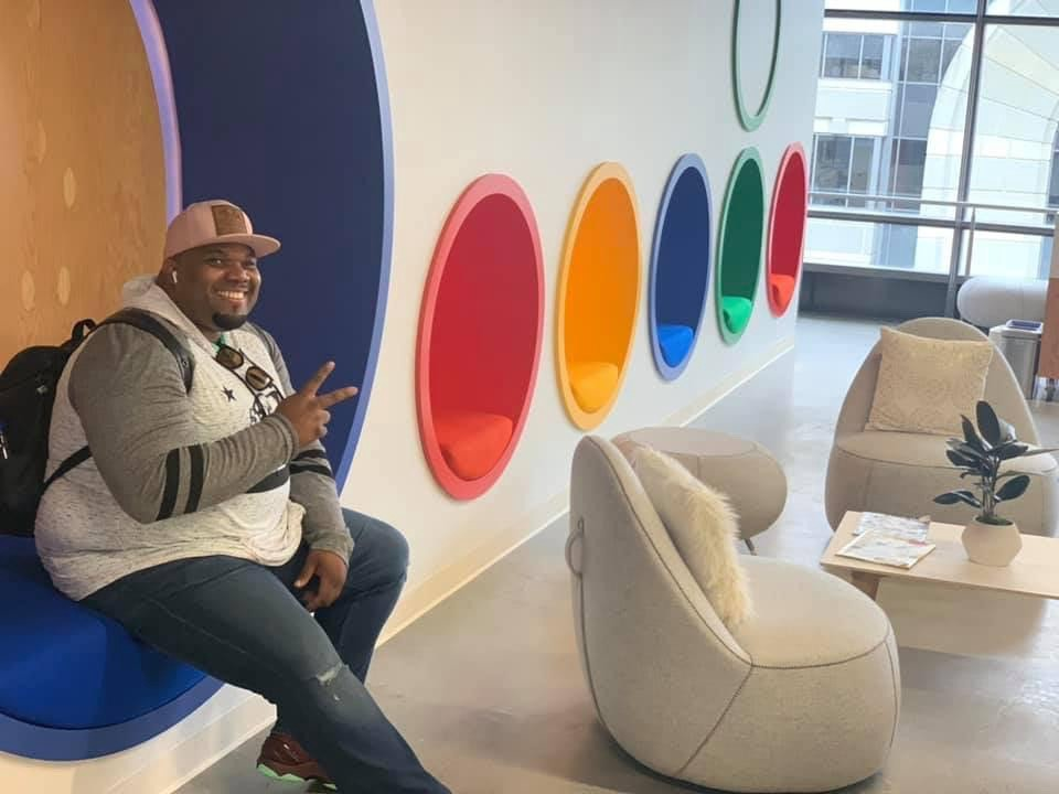 McKenzy hanging out at the Google San Francisco Office.