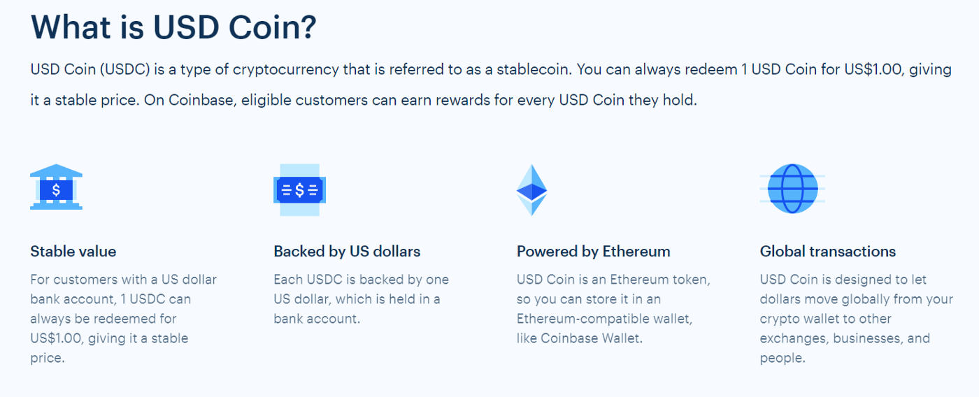 What is USDC? A stablecoin for a stable price!