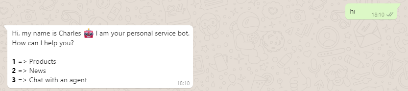 Building a WhatsApp chatbot in 5 minutes without coding