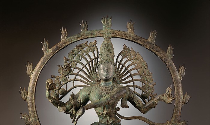 A statue of Shiva as lord of the dance in the Asia Society and Museum in New York,