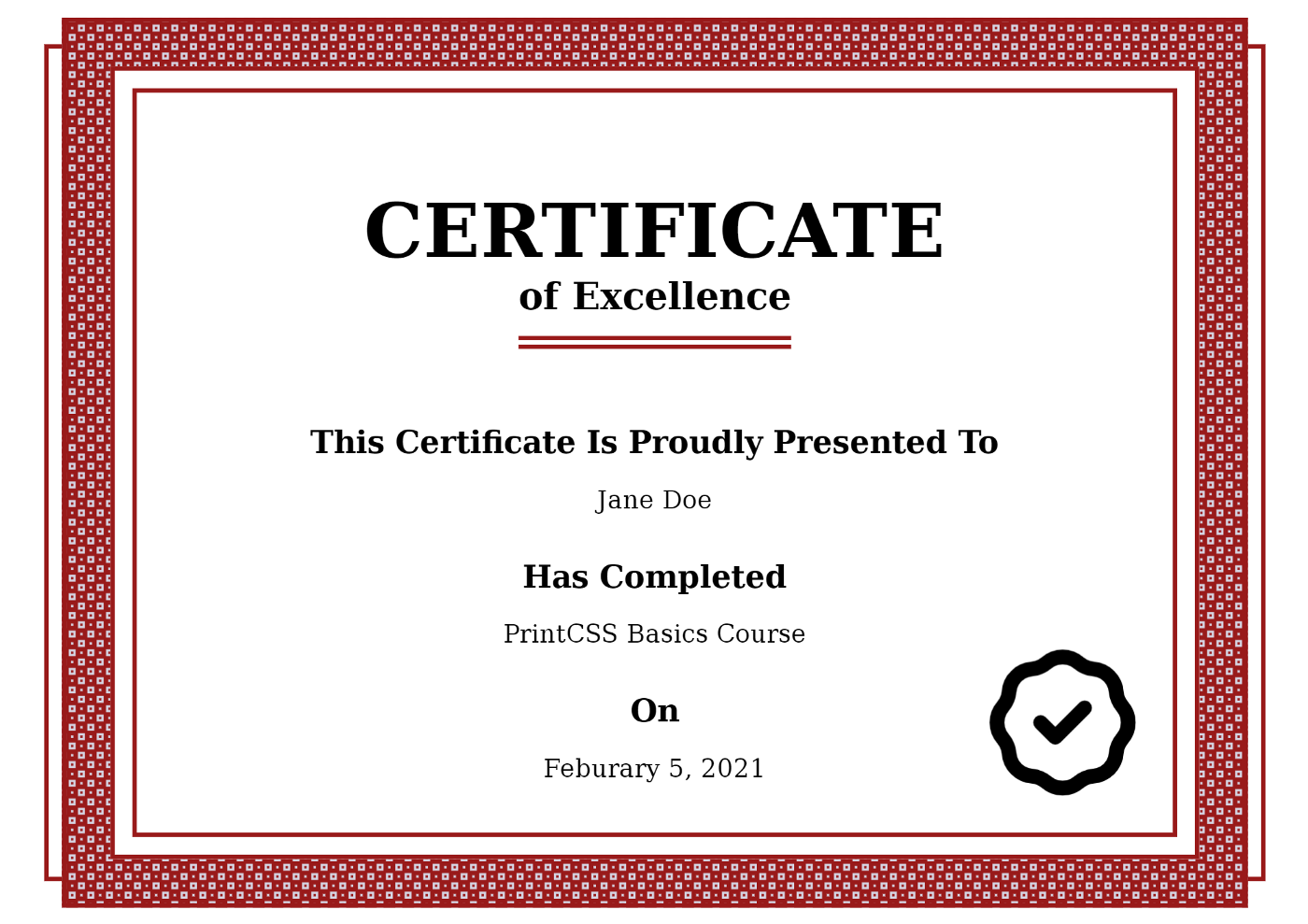 The result certificate PDF rendered with WeasyPrint.