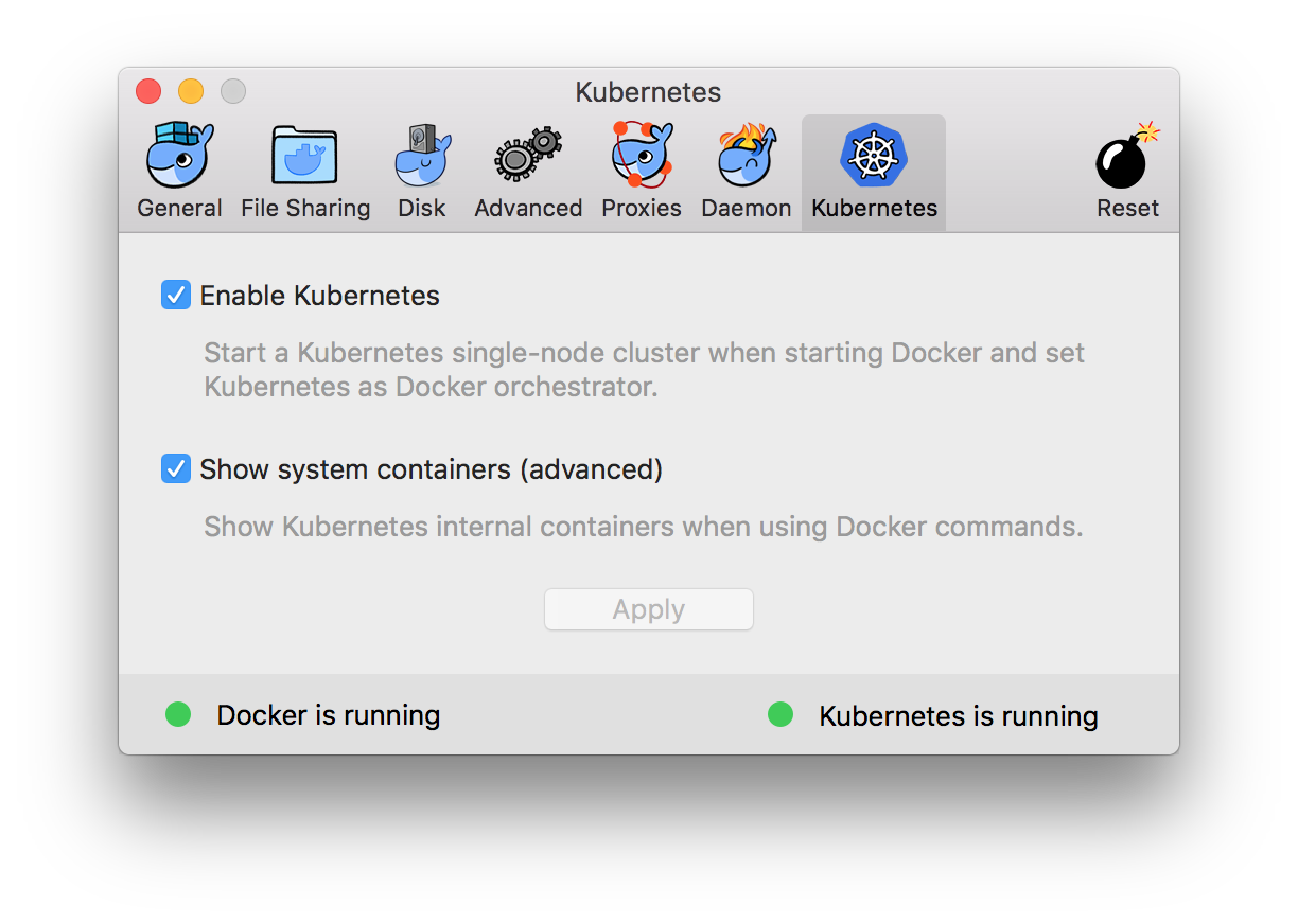 Docker for Mac with Kubernetes — Enable K8S Dashboard