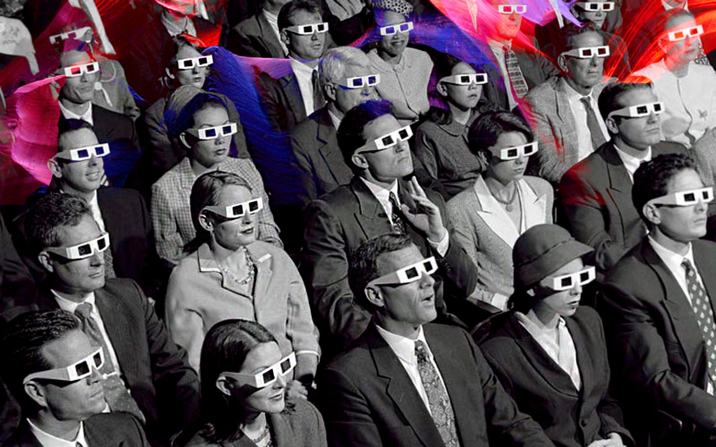 Photo from first 3D movie, 1922.