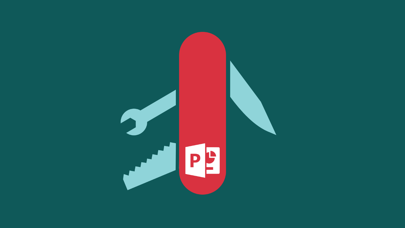 Swissarmy knife with Microsoft PowerPoint logo