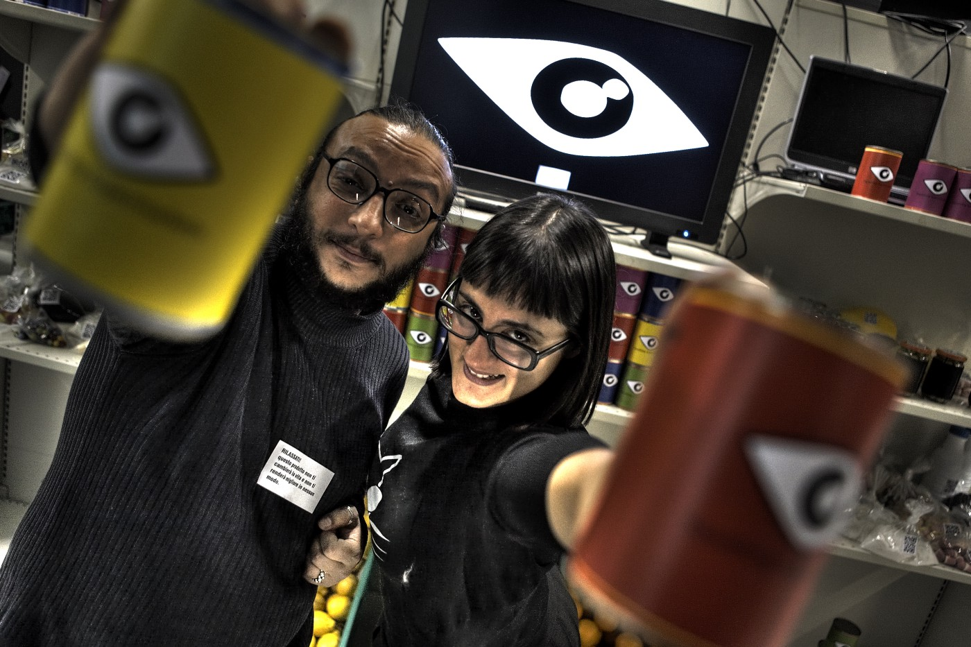 Squatting Supermarkets: Oriana and Salvatore at To Share Festival 2009