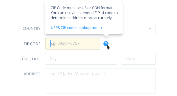 zip code lookup by usps
