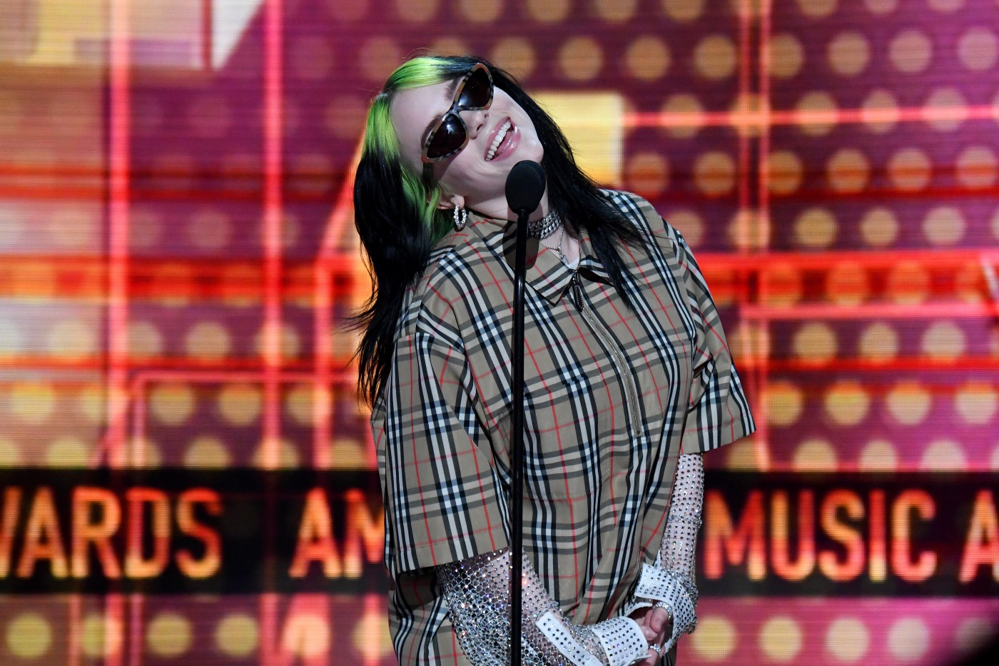 Billie Eilish at the American Music Awards.