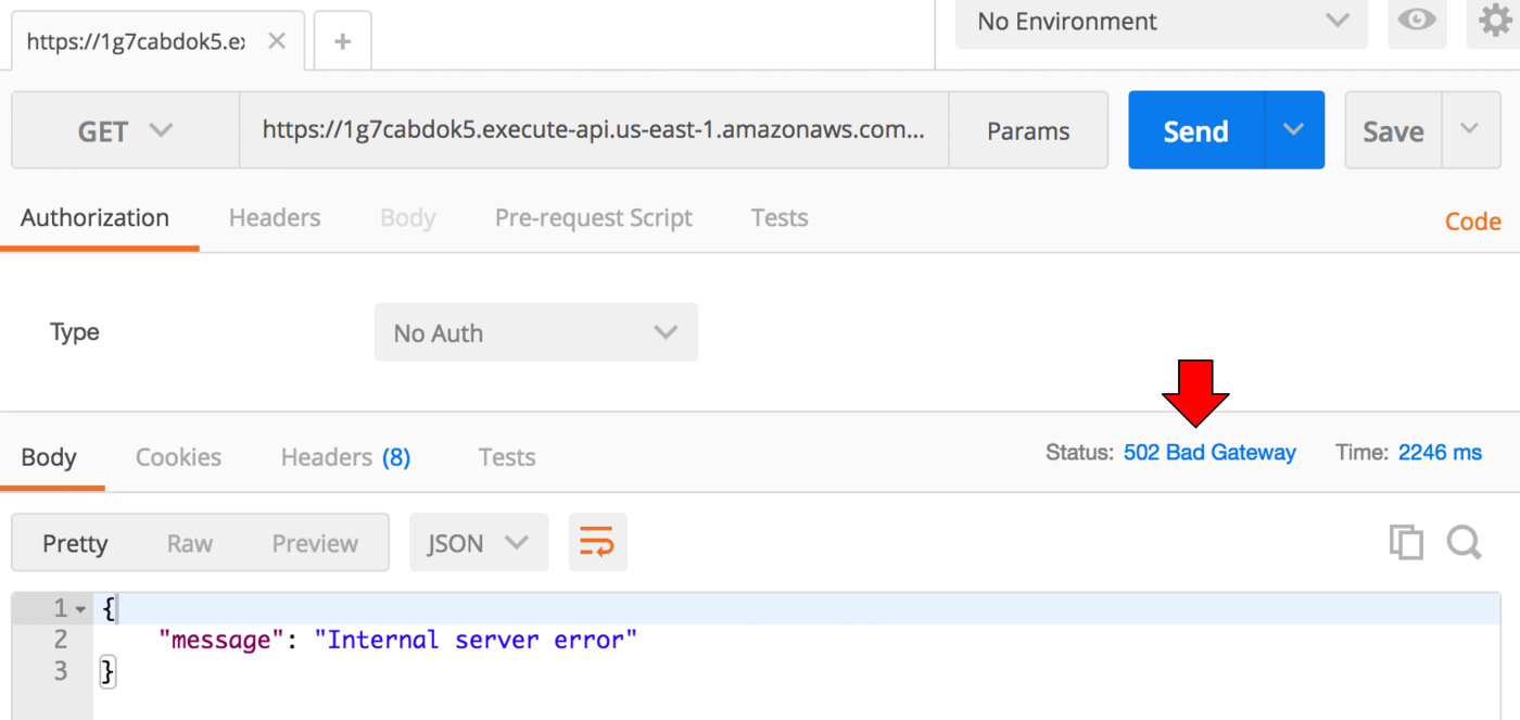 HTTP ERROR 502 THE SERVER RECEIVED A BAD RESPONSE WHILE