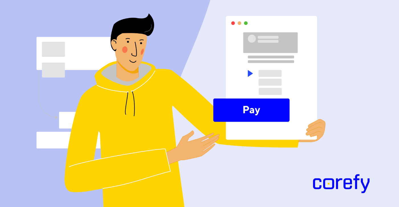 checkout payment page corefy payments