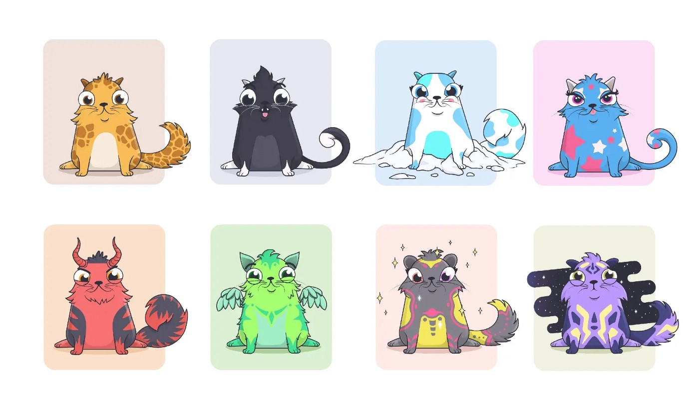 Cryptokitties—one of the first NFT projects, 2017