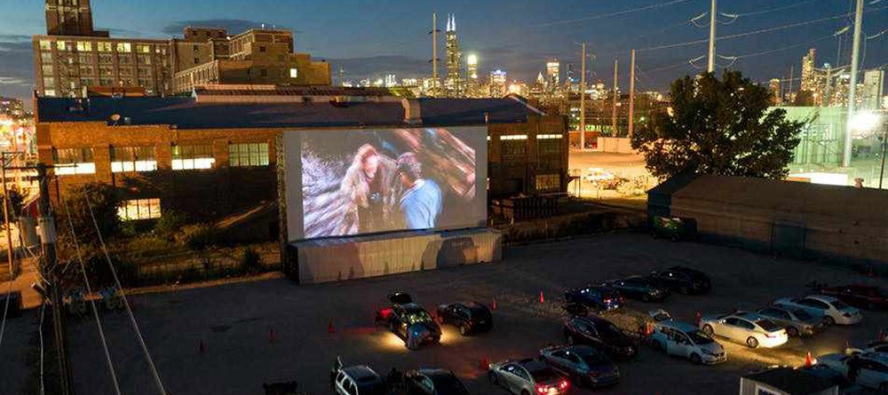 The Chi-Town Drive-In location in Pilsen hosts the Chicago International Film Festival