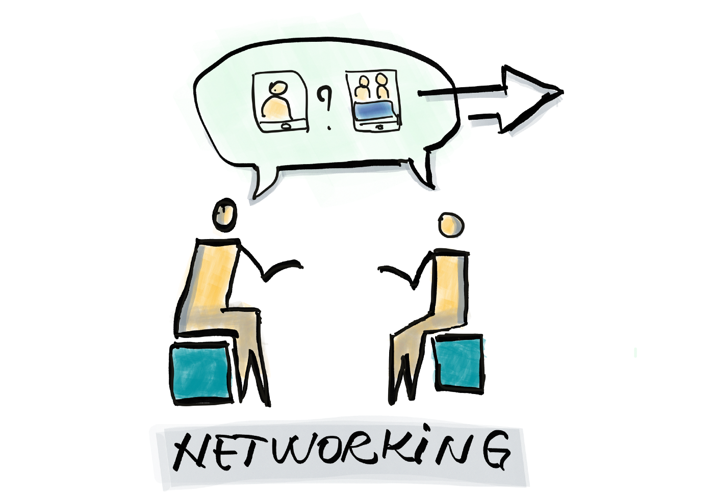 The Product Owner hosting a networking evening