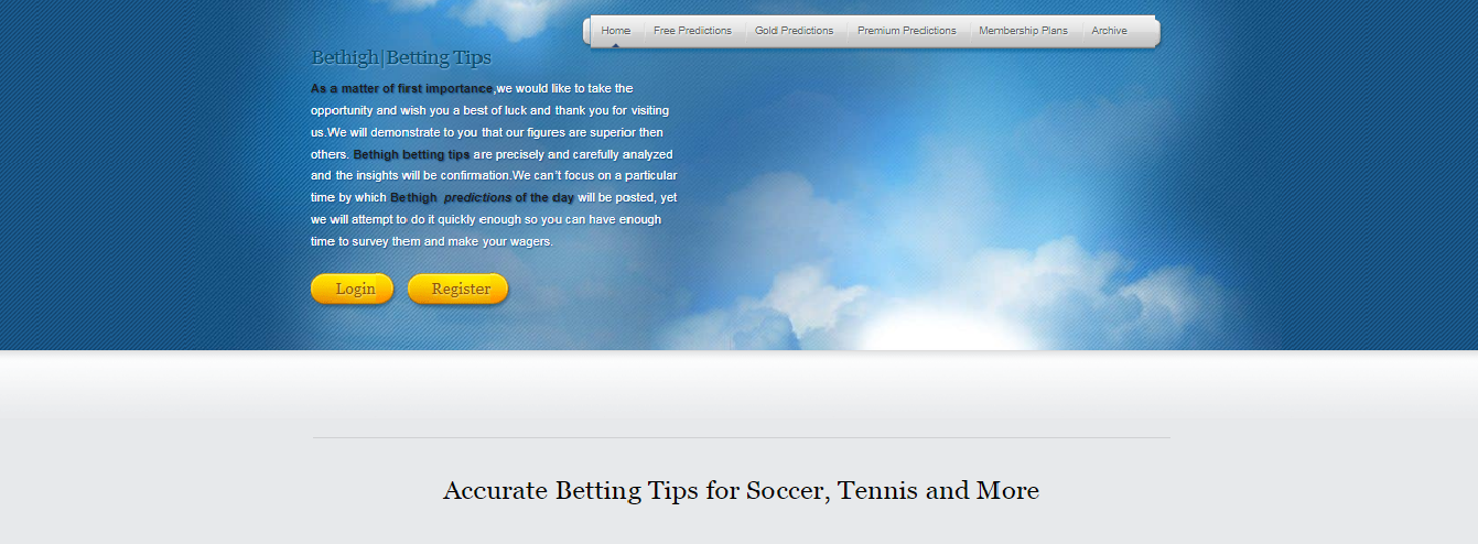 Free Betting Tips - Bet High - Medium