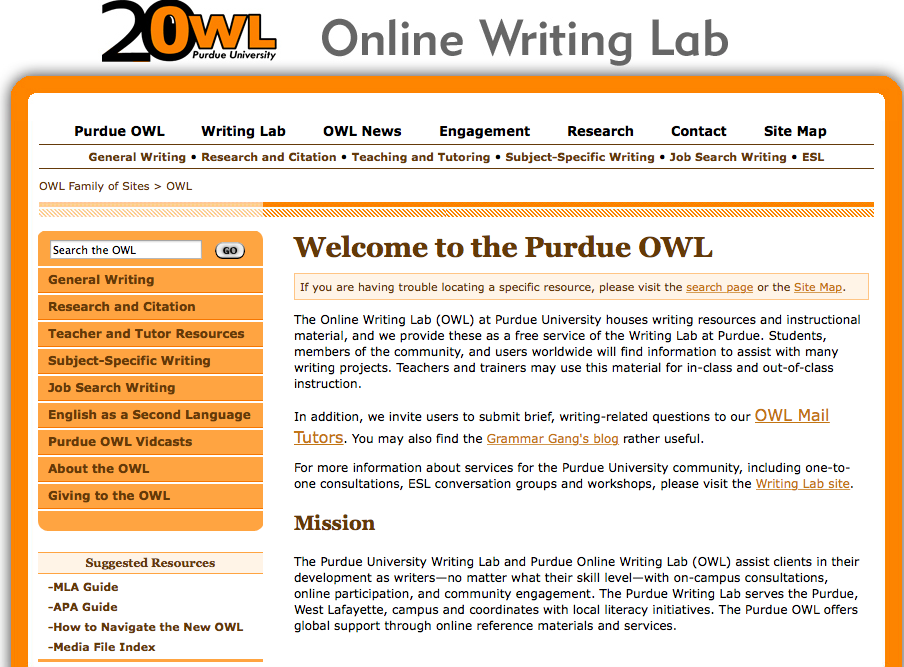 the features of purdue owl   yousef abu ulbeh   medium image  purdue owl home page
