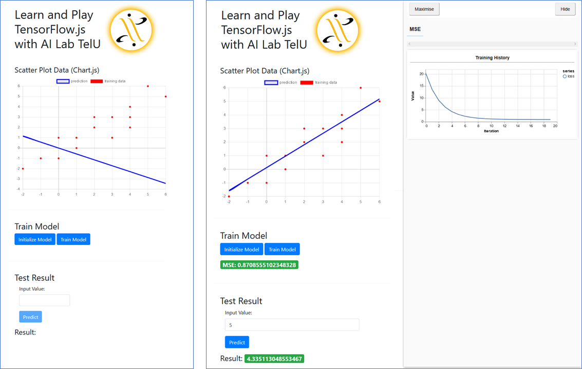 Learn and Play with TensorFlow js [Part 1: Linear Regression]