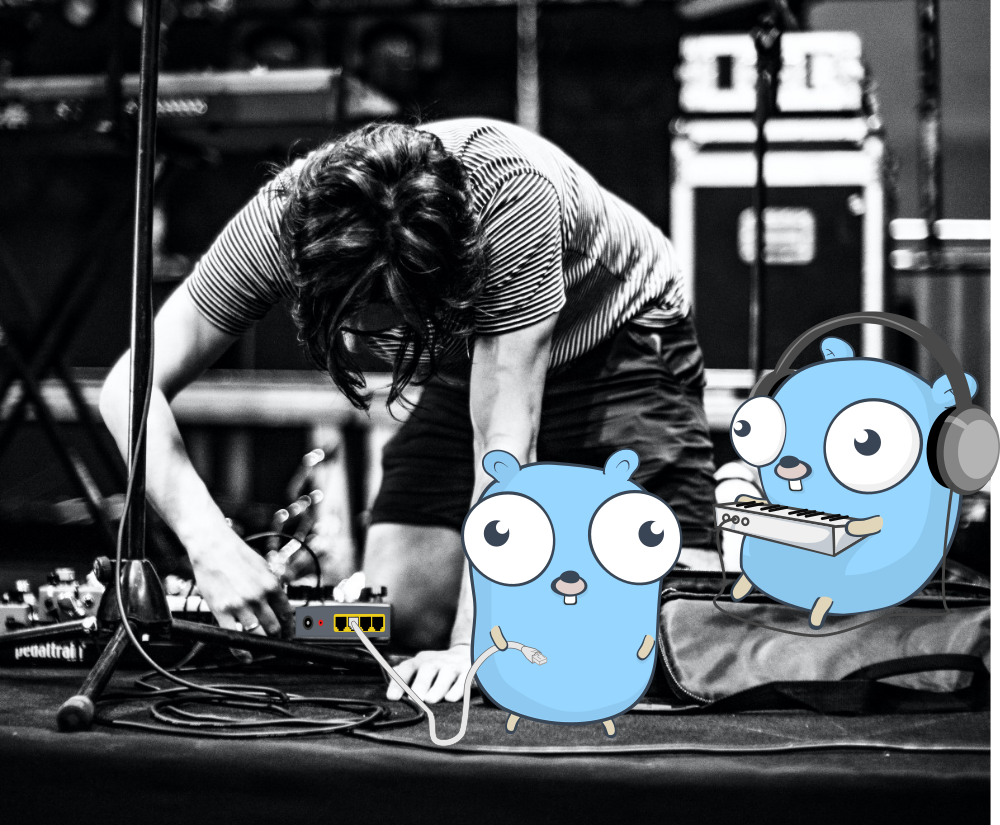 Gophers (Golang) Setting up a music stage