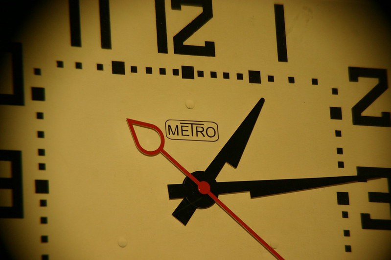 Picture of an analog clock.