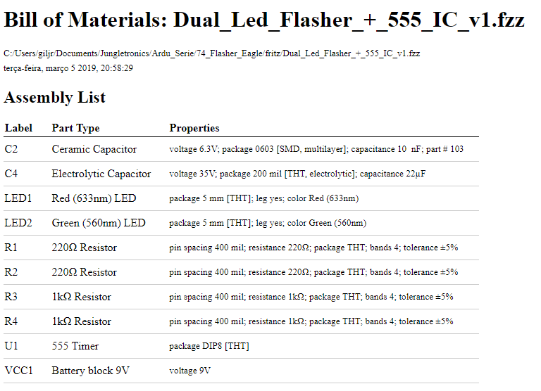 First Project in Eagle — 555's Flasher - Jungletronics - Medium