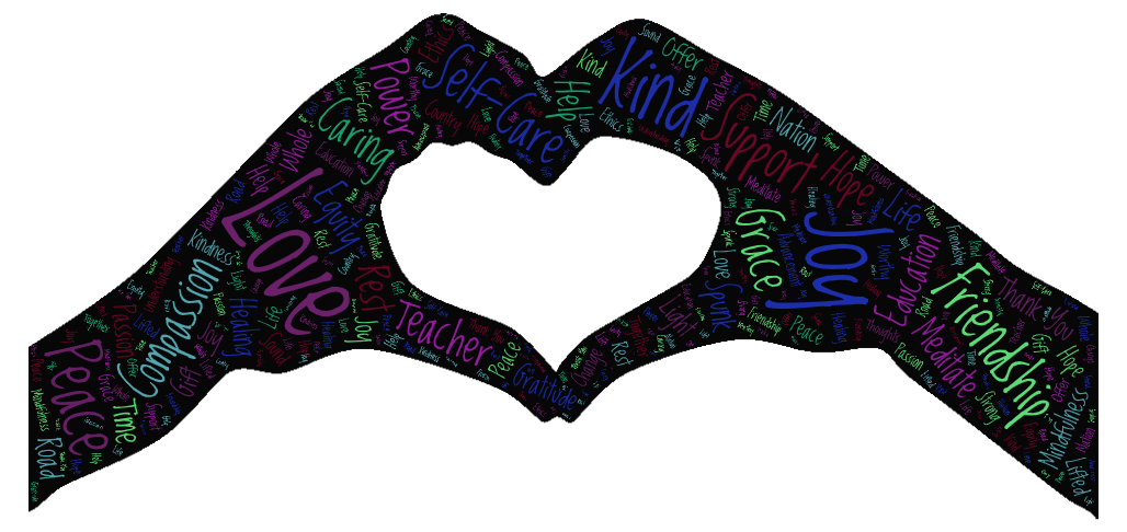 Image of Hands Word Art by Jacquelyn Ollison, Ed.D.