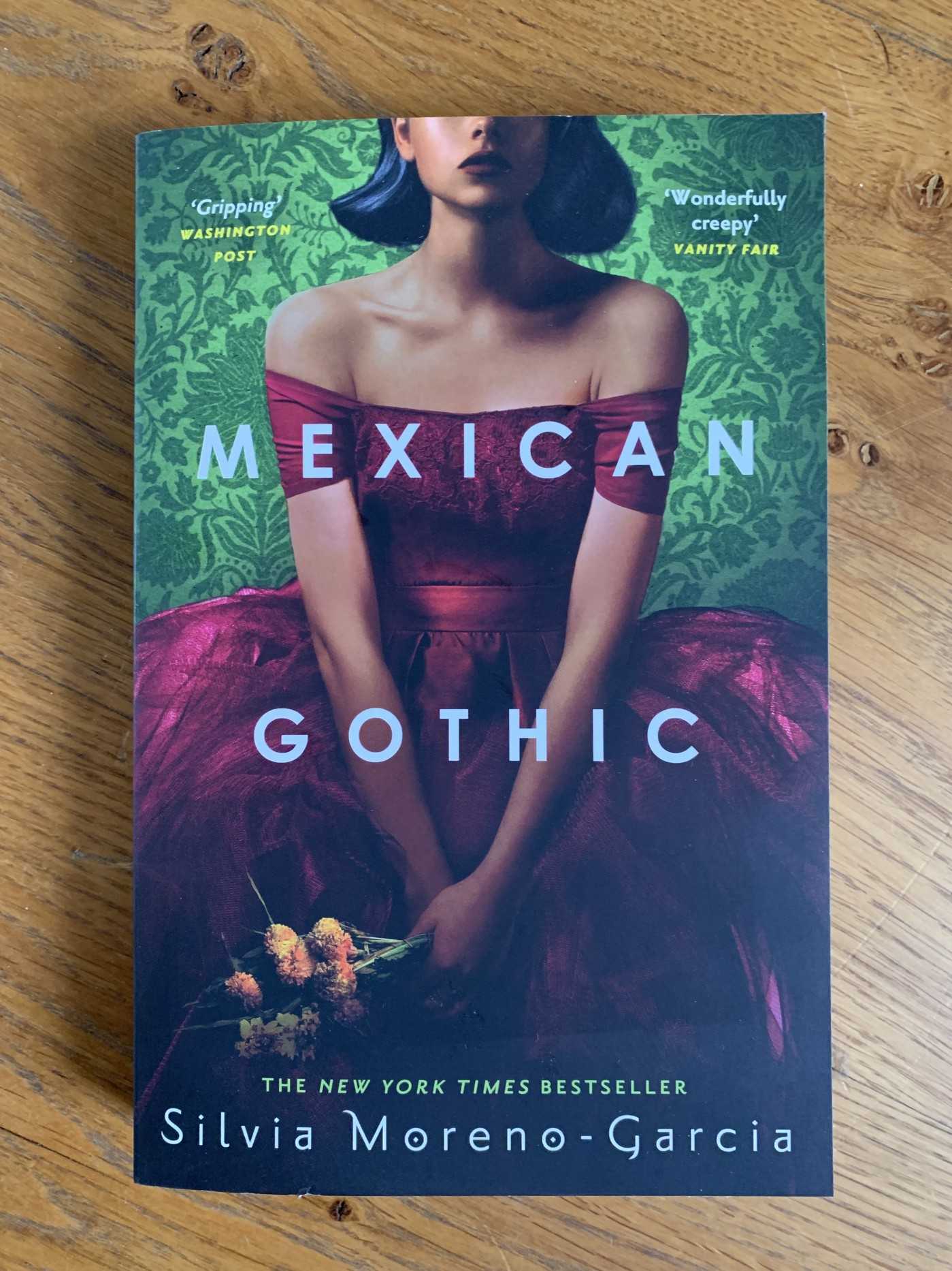 Front cover of the paperback edition of Mexican Gothic.