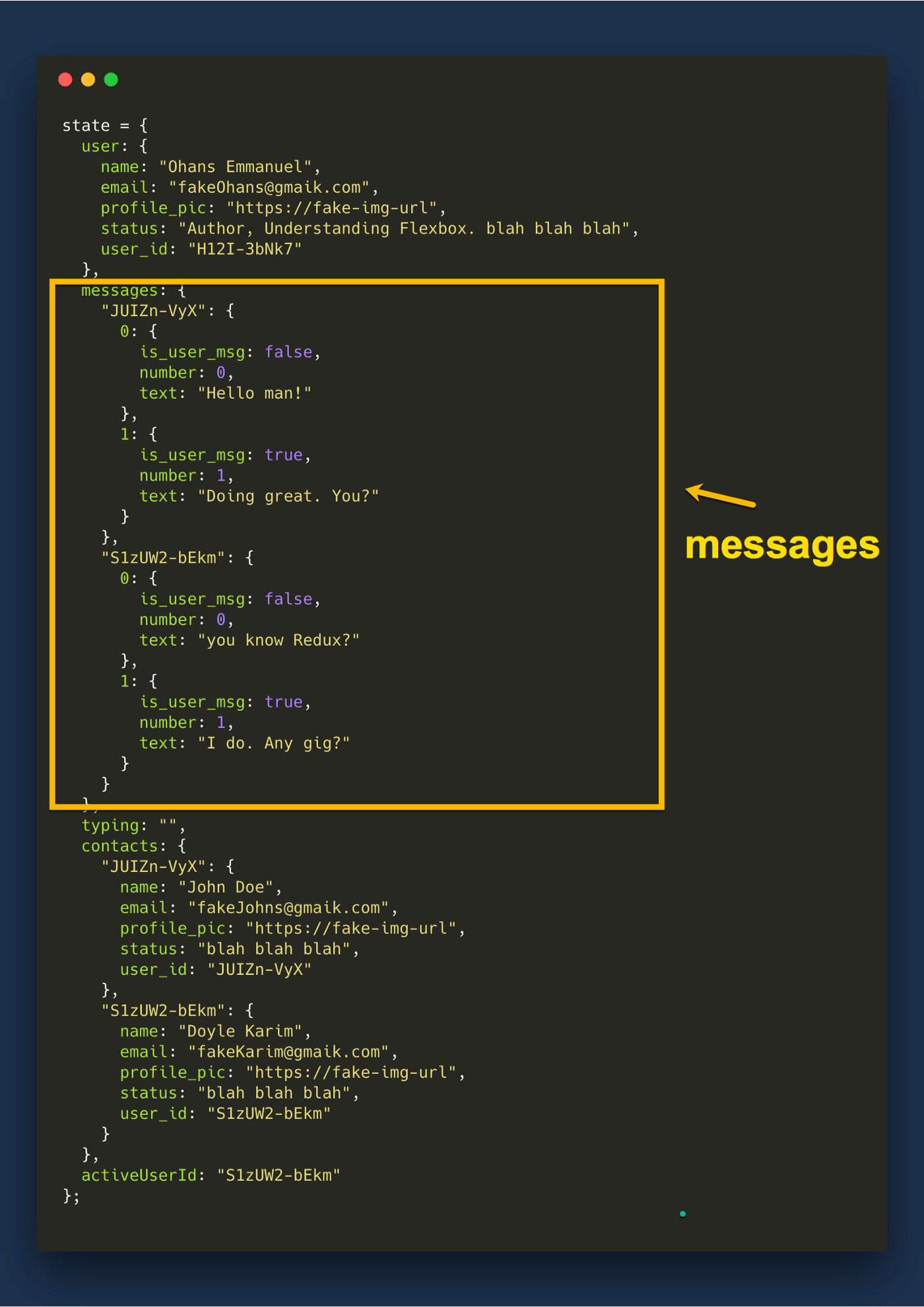 Have a look at the messages field one more time