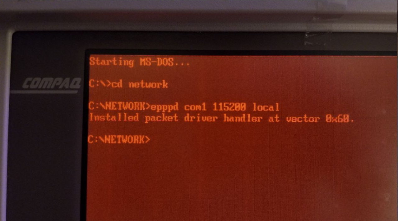 Connecting a 286 DOS PC to the Internet Through a Serial Connection