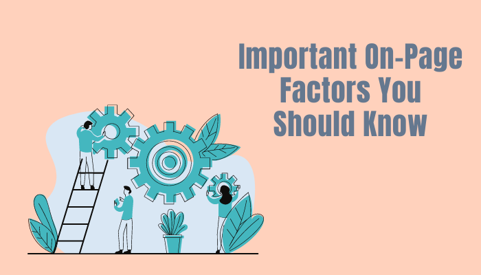Important On-Page Factors You Should Know