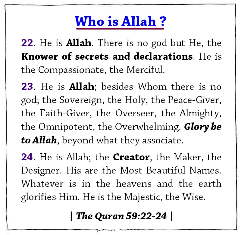 The Blessed name of Allah The Most High - Fatima Karim - Medium