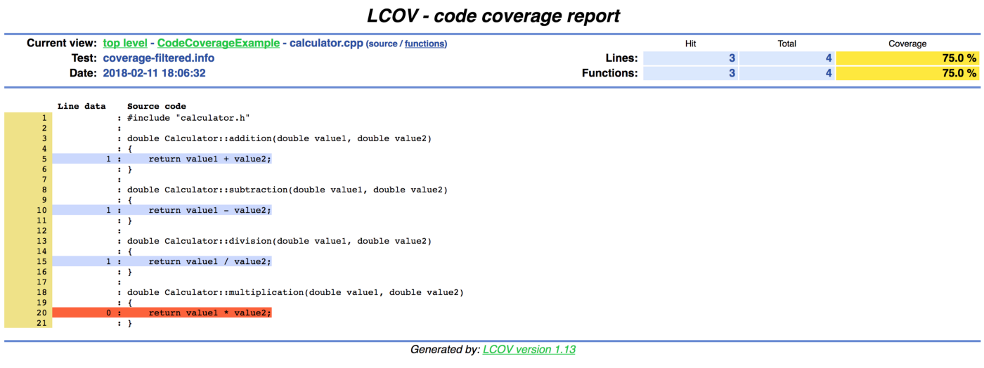 Generating Code Coverage with Qt 5 and GCOV on Mac OS