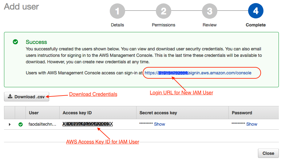 Step by step guide to setting up AWS Web services user and using IAM